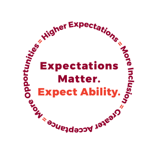 Circtle that says Expectations Matter. Expect Ability.