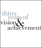 Cover for the Thirty Years of Vision & Achievement Report