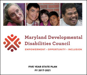Cover for the MDDC Five Year State Plan