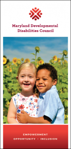 Council brochure with photo of two children